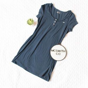 Vineyard Vines | Navy Ruffle Pima T-Shirt Dress